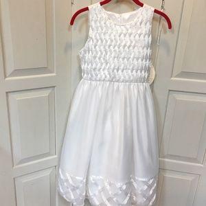 NWT Girl's American Princess White Formal Dress